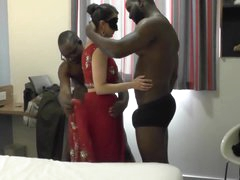 Indian Milf Gets Several BBC To Behave oneself With