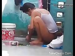 Desi woman bathing all round genuine hidden cam