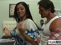 Heavy titty Indian MILF gets a big millstone on her bore